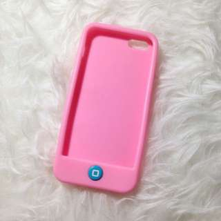 Pink with blue button case for iphone 5/5s