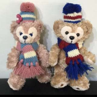 🚚 (絕版)Duffy&Shelliemay 日本東京迪士尼 冬季 達菲 玫雪莉 站姿吊飾一對