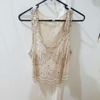 Forever New Sequined Top Size 12
