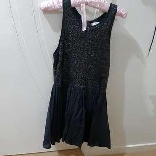 Black Sequined Mika & Gala Dress Size 10