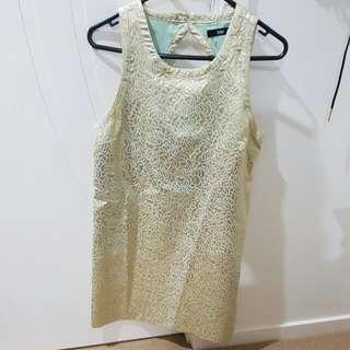 Gold Dress From Sportsgirl Size 10