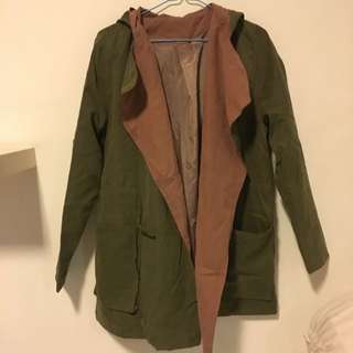 Army green Parka With Hood