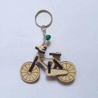 IN STOCK : Wooden Bicycles Key Chains