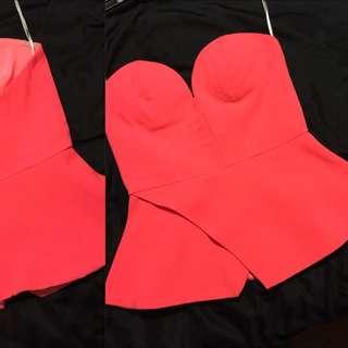 Pink Boned Top