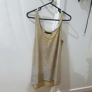 Gold/silver Top From Dotti Size Xs
