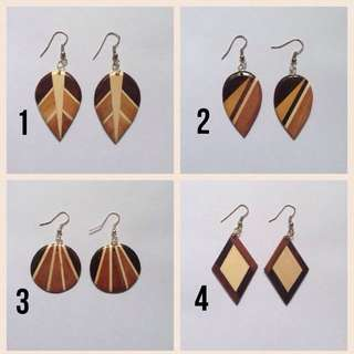 IN STOCK : Wooden Earring