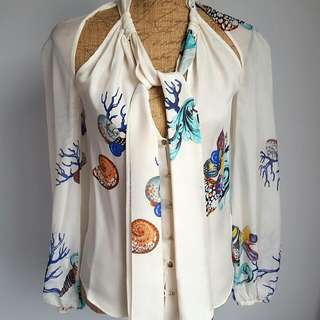 Versace Collection Womens Blouse Sz40