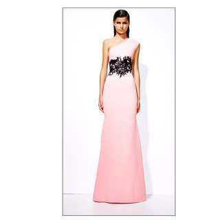 ALEX PERRY Stephanie Gown One Shoulder Pink Sz8