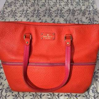 Authentic Kate Spade Tote Bag Orange-Pink