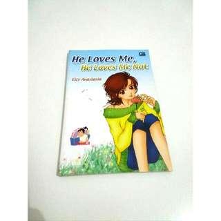 "Buku Novel ""He Loves Me, He Loves Me Not"" By Elcy Anastasia"