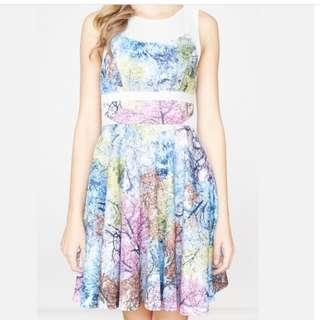 BN Intoxiquette Maple Wood Flare dress.