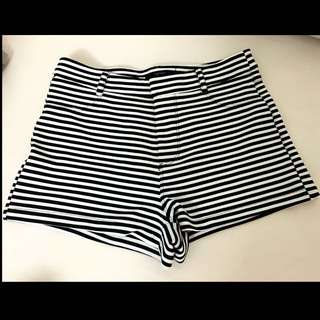 Forever 21 Stripe Bermuda Short Pant