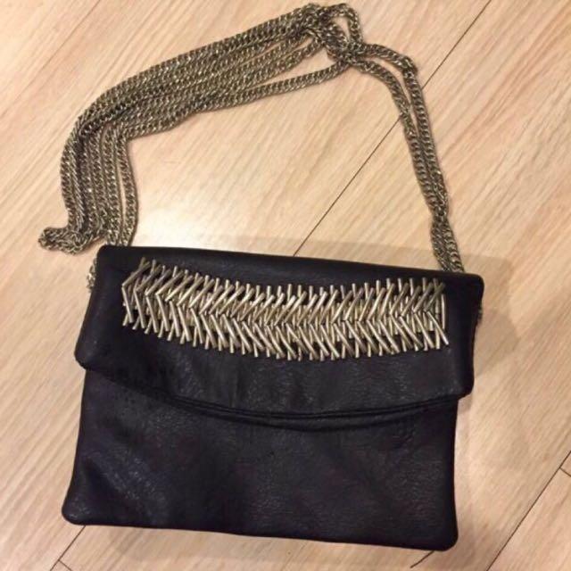 「急售」9成新黑色質感側背包