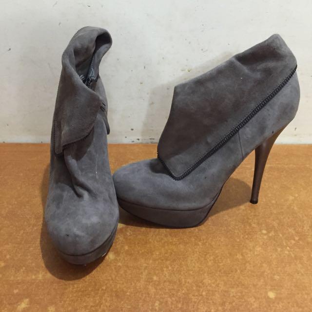 專櫃二手鞿皮短靴