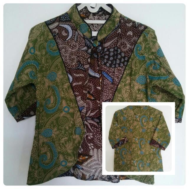 Batik Blazer Two Color & Two Tone