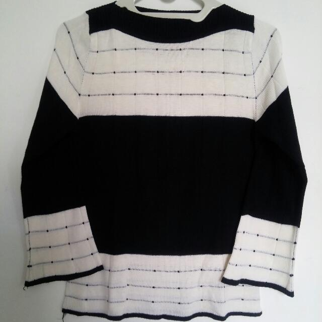 FREE ITEM - Black And White Sweater
