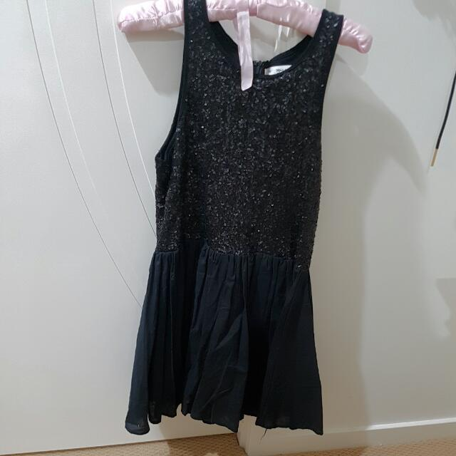 Black Sequined Mika & Gala Dress Size 10