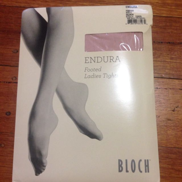 Bloch Footed Ballet Tights, Salmon Pink, Ballerina