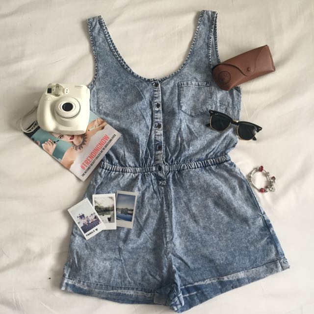 Denim Look Playsuit
