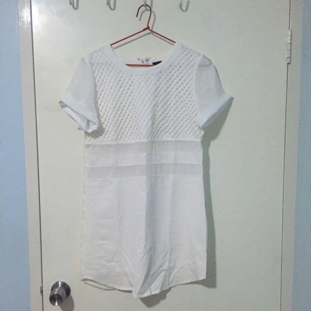 Dolly Girl: White T-shirt Dress