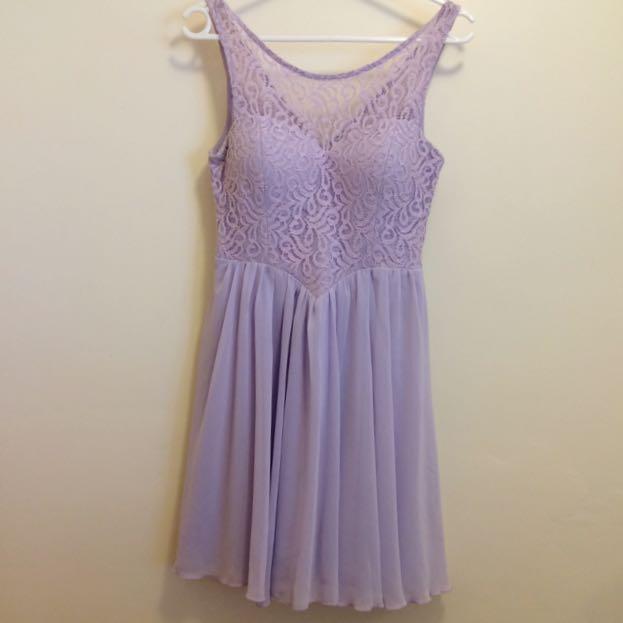 Dotti Purple Floral Dress Women's Size 10