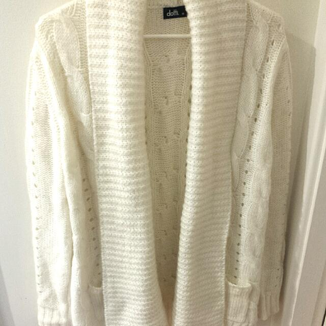 Dotti white cardigan/jacket/jumper