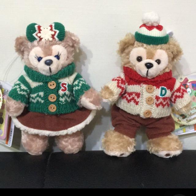 (絕版)Duffy&Shelliemay 日本東京海洋迪士尼 達菲 玫雪莉 冬季站姿吊飾