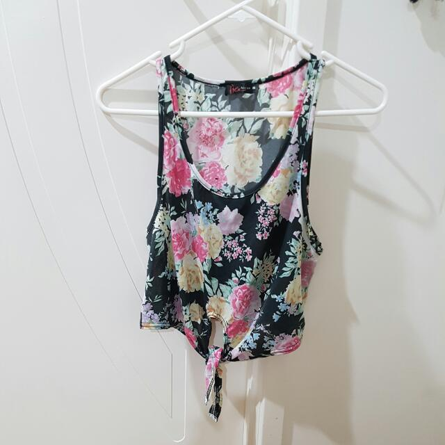 Floral Tank Top Size M
