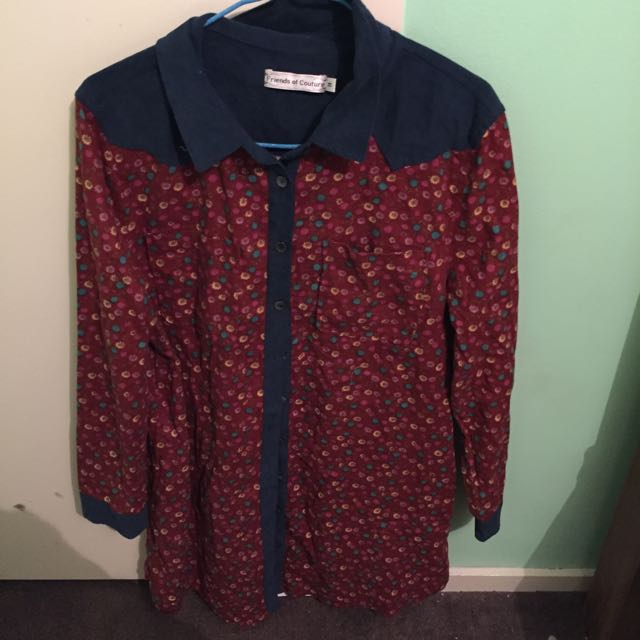 Friends Of Couture Shirt Dress Size 14
