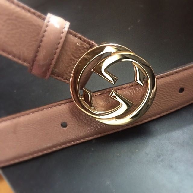 Gucci Genuine Patent Leather Belt