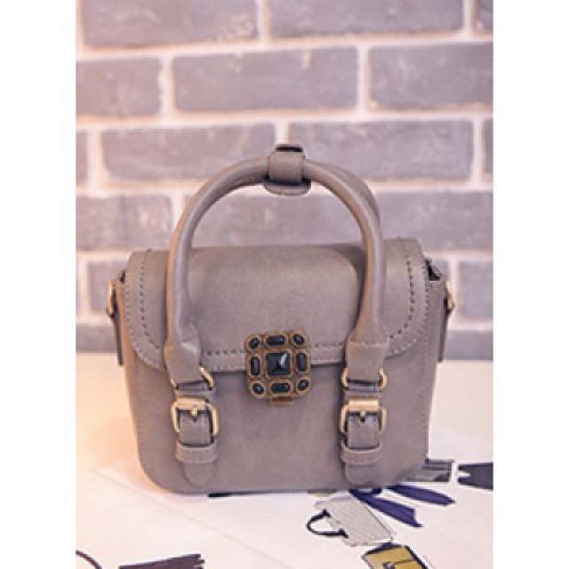 Hand Bag S924#RED-GREY-BLACK