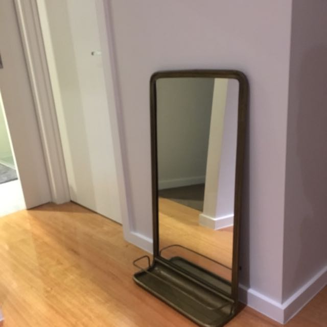 Industrial Style brass Framed Mirror