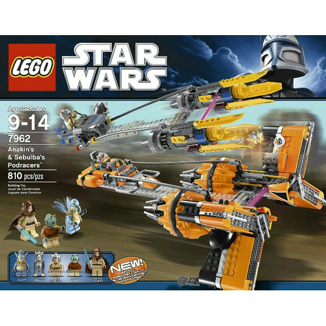 Lego Star Wars 7962 Anakin's and Sebulba's Podracers