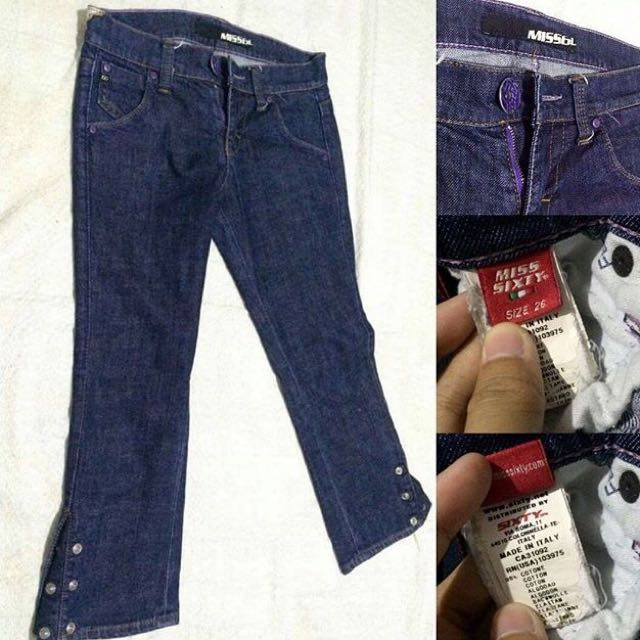 Miss Sixty Ankle 3/4 Denim Pants