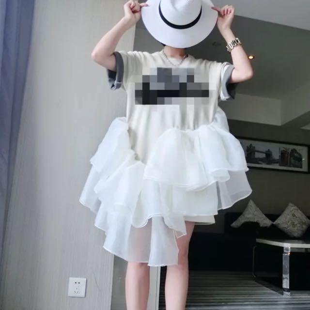 翻玩玫瑰花Nike 紗裙洋裝