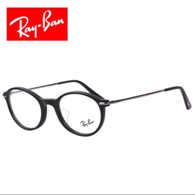 Ray Ban 原廠復古黑框光學眼鏡