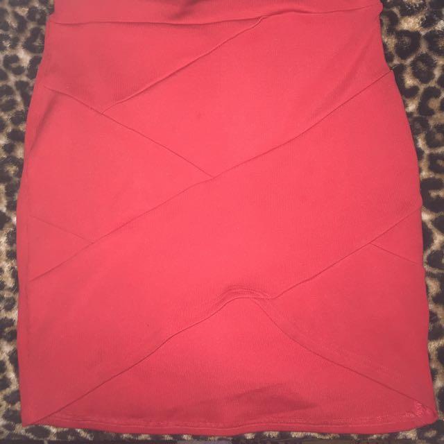 Red Criss Cross Skirt