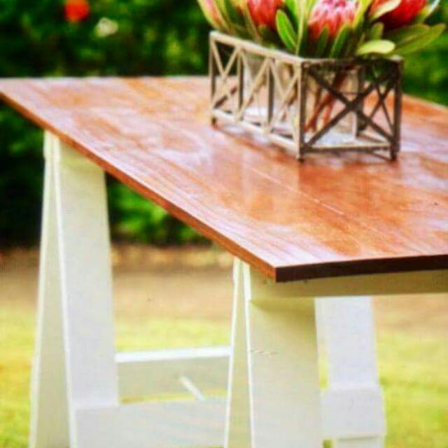 Rustic Timber Trestle Table