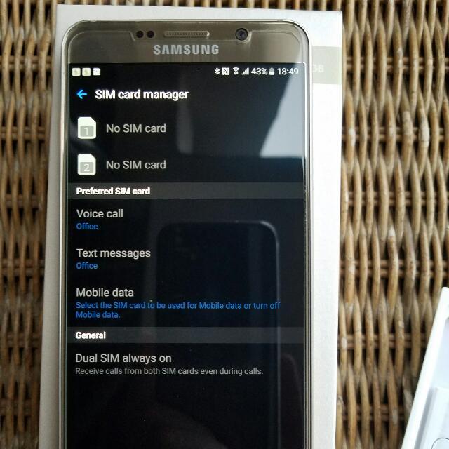 Samsung Galaxy Note 5 (Dual Sim) 64GB - Gold Color