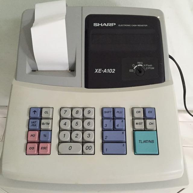 sharp cash register xe a102 home appliances on carousell rh sg carousell com Sharp Cash Register Replacement Keys Sharp Cash Register Replacement Keys
