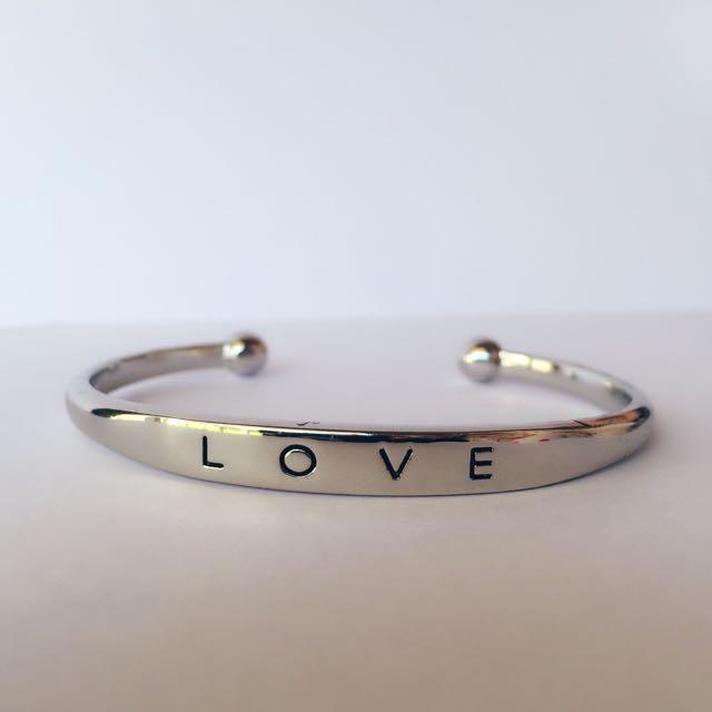 Silver Love Jewellery Bangle Bracelet - Simple Accessory