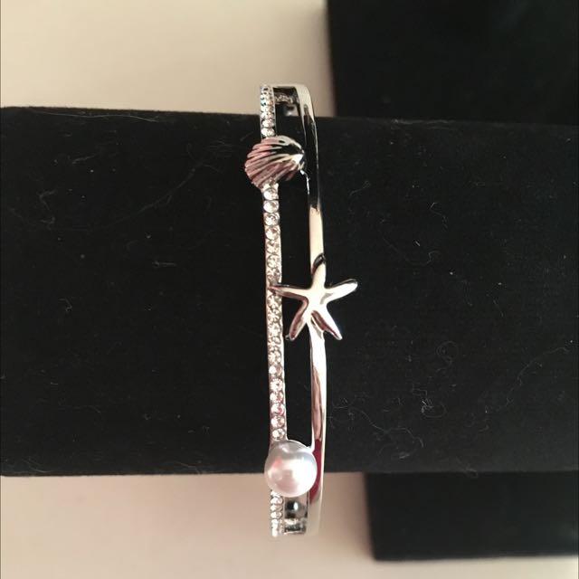 Silver Seashell/Star/Pearl Bracelet