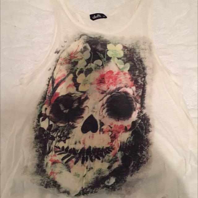 Skull Backless Shirt