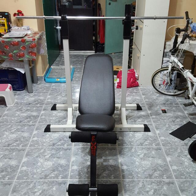 Squat Rack (SOLD), Adjustable Bench