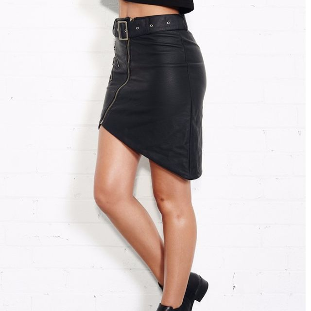 Stongrave Leather Skirt from Nana Judy size 10 RRP $90 BRAND NEW