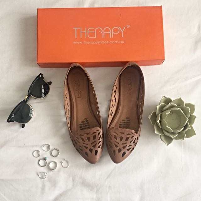 Therapy Tan Flats