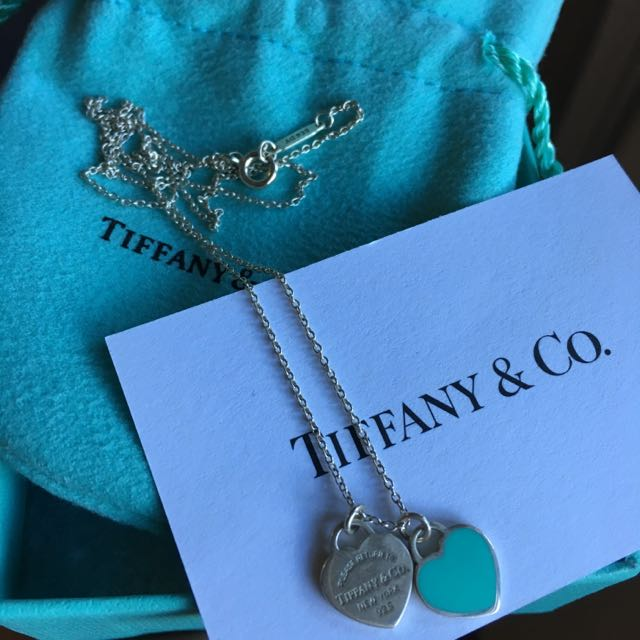 Tiffany Mini Double Heart Tag