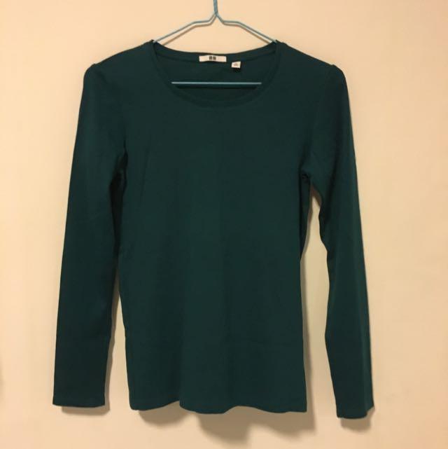 Uniqlo Supine Cotton Long Sleeve Tshirt