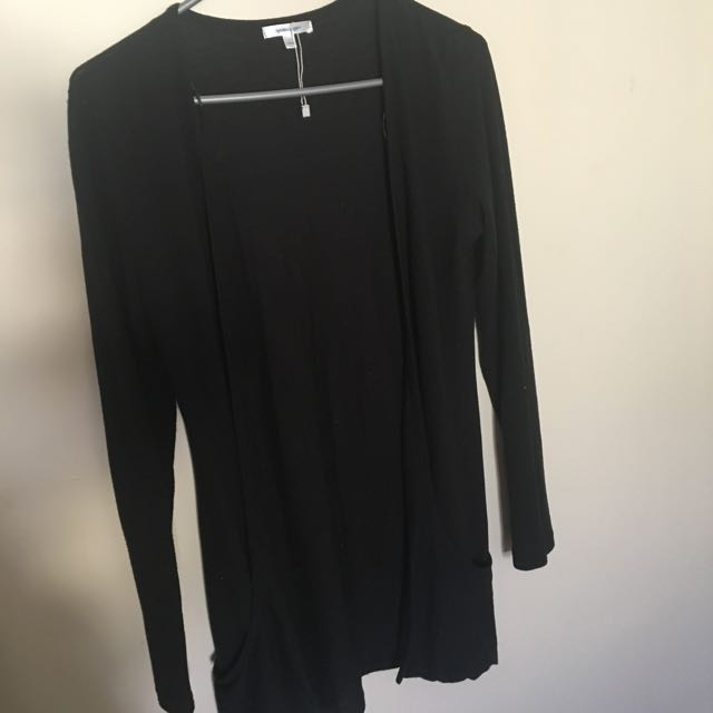 valley girl black long cardigan size S