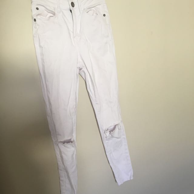 Cotton On White High Waisted Jeans size 8